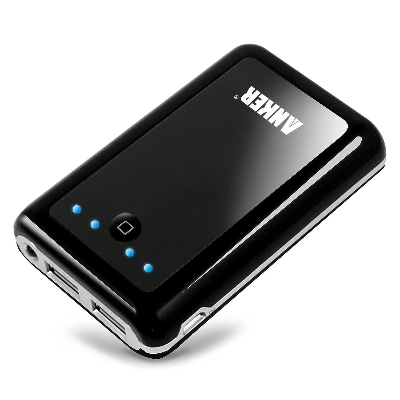 Anker Astro2 PowerBank 8400mAhの大容量モバイルバッテリー スマホ(au docomo softbank)-Samsung Galaxy S3 S III I9300, Galaxy S2 S II I9100, Galaxy Nexus, Galaxy Note / HTC Sensation, One X, One S, EVO; PSP; MP3 MP4 MP5 iPhone4 4S 3GS iPad iPad2 PSP に対応 小型軽量の携帯バッテリー 2Aと1Aの定格出力 USB×2で2台同時充電可能 通勤・出張・旅行・アウトドアーに最適! 【日本語取扱書付け】【18ヶ月の保証期間】