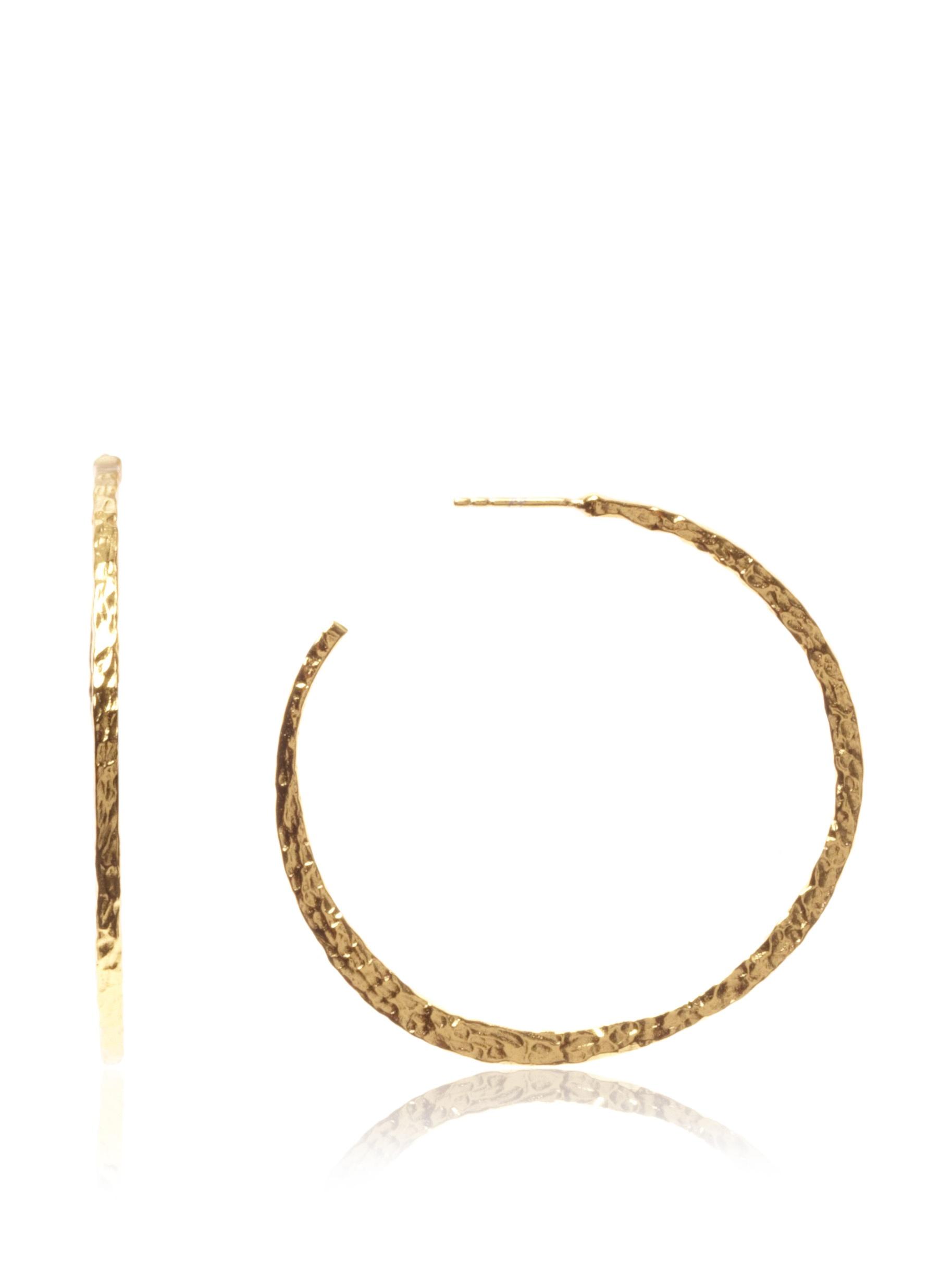 gorjana Arc Large Hoops, Gold