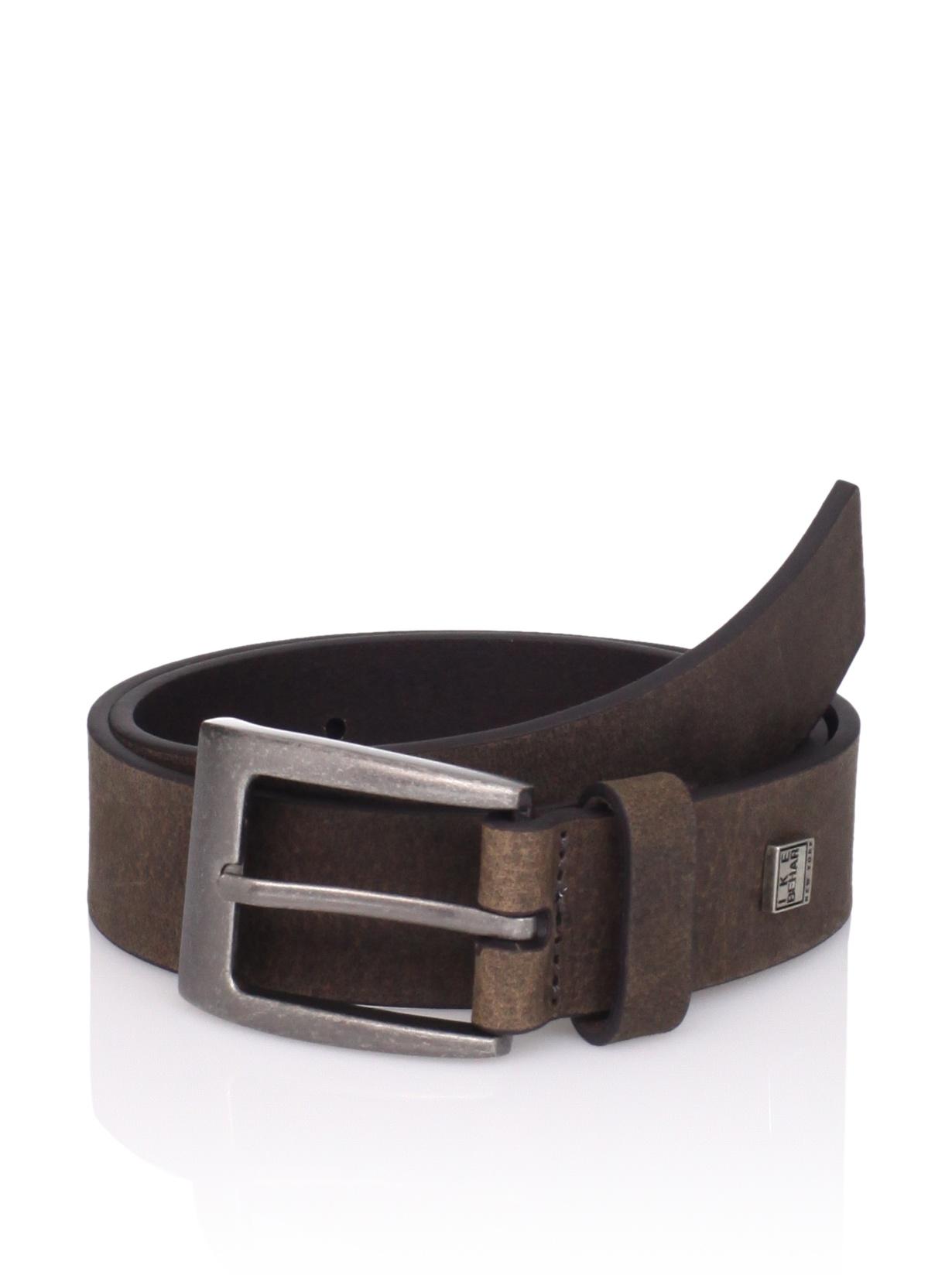 Ike Behar Boy's Casual Leather Belt (Brown)