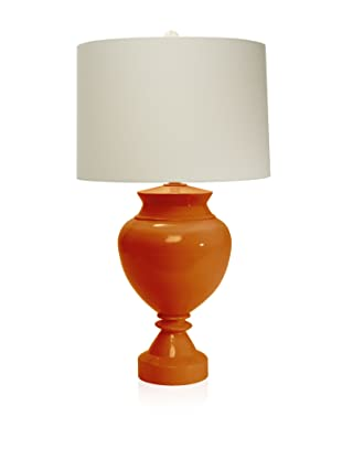 Aqua Vista Lighting Brompton Spun Bamboo Table Lamp (Orange Ochre)