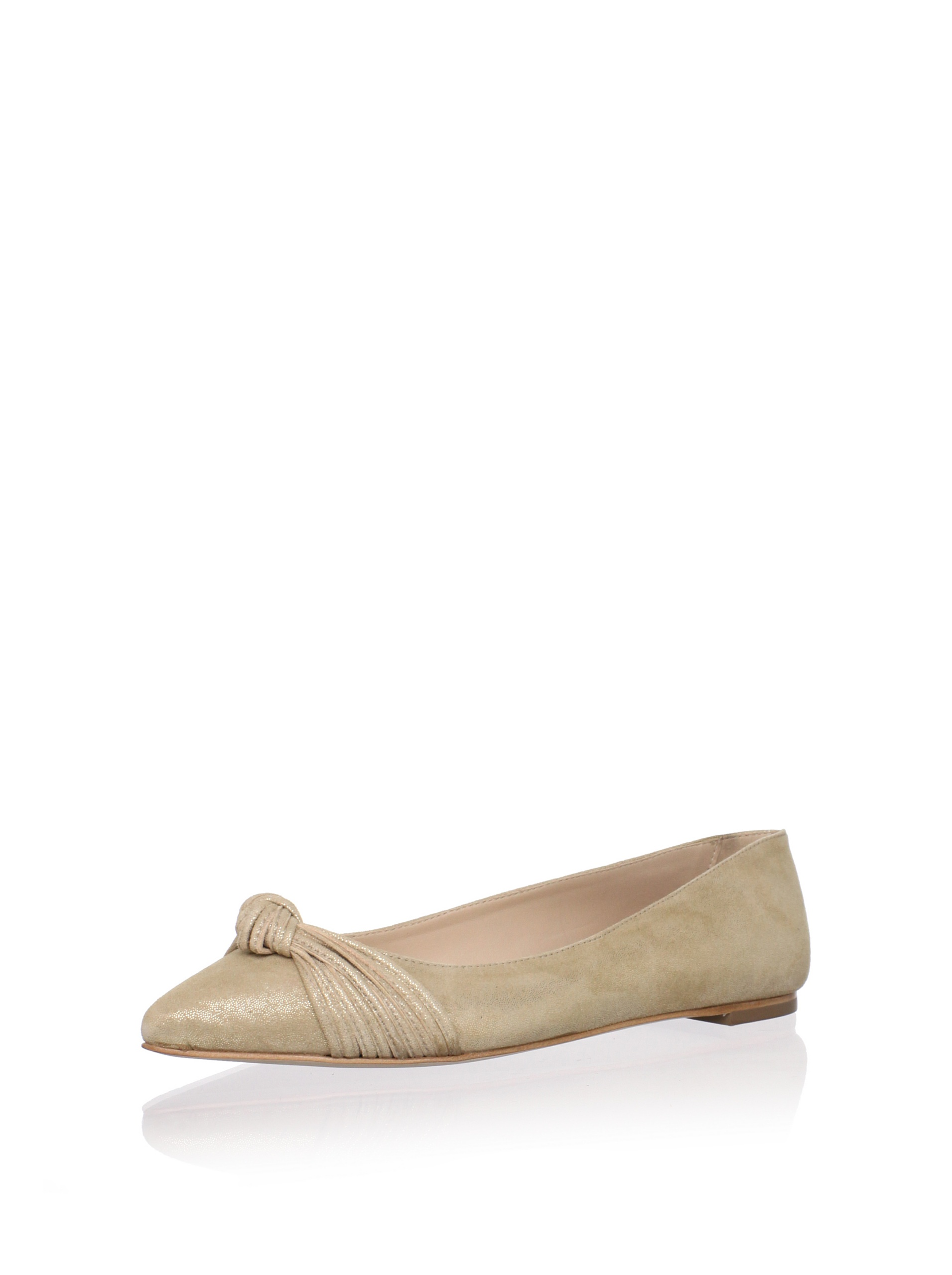 Loeffler Randall Women's Willow Flat with Mignon Knot (Gold)