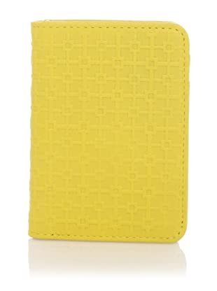 Hlaska Artifacts Women's Embossed Card Wallet (Yellow)