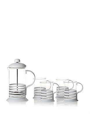 Classic Coffee & Tea Coffee & Tea Press Set (White)
