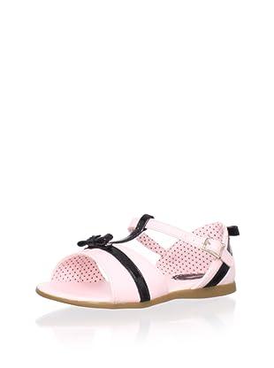 Pampili Kid's T-Strap Sandal (Rose/Black)