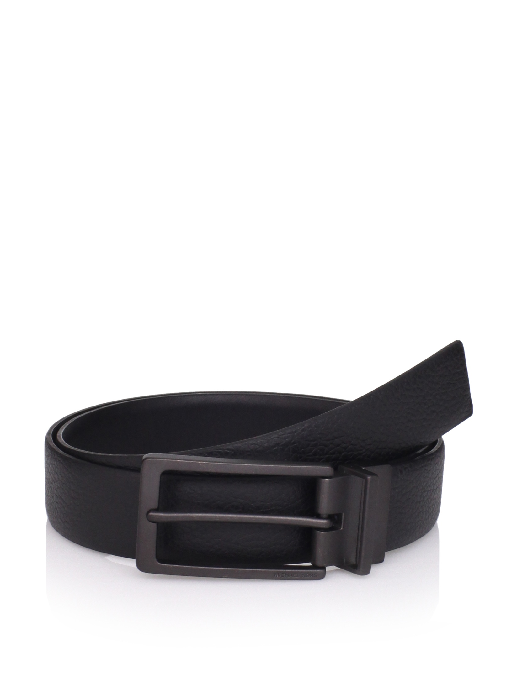 Michael Kors Men's Reversible Belt (Black)