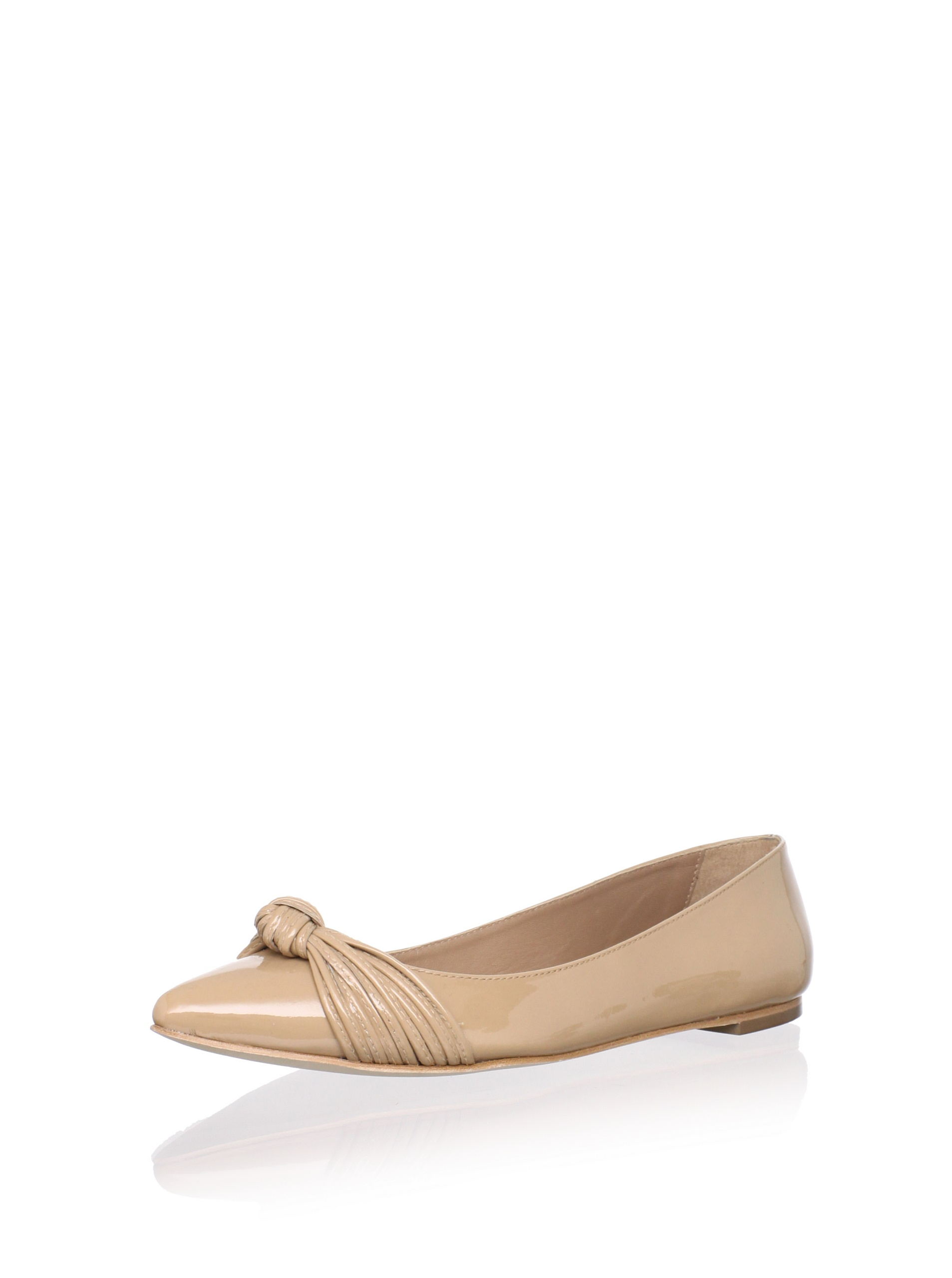 Loeffler Randall Women's Willow Flat with Mignon Knot (Tan)