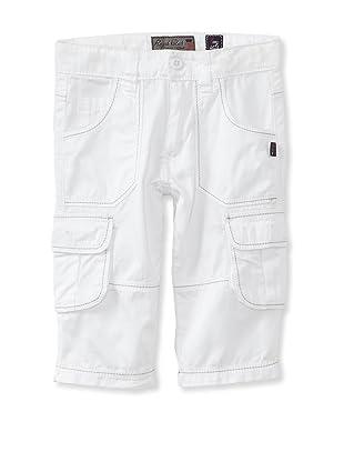 Royal Club by KANZ Boy's Cropped Cargo Pants (White)