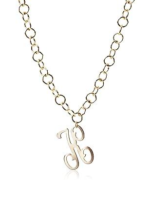 Lisa Stewart Gold K Initial Link Necklace