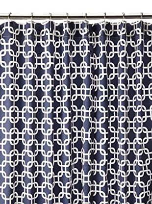 Chateau Blanc Natalie Shower Curtain, Navy/White, 72