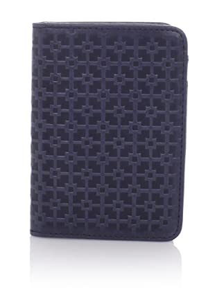Hlaska Artifacts Women's Embossed Card Wallet (Navy)