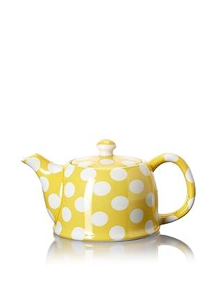 Classic Coffee & Tea White Dots Teapot (Banana Yellow)