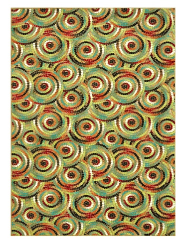 Loloi Rugs Riviera Collection Rug (Multi Circle)
