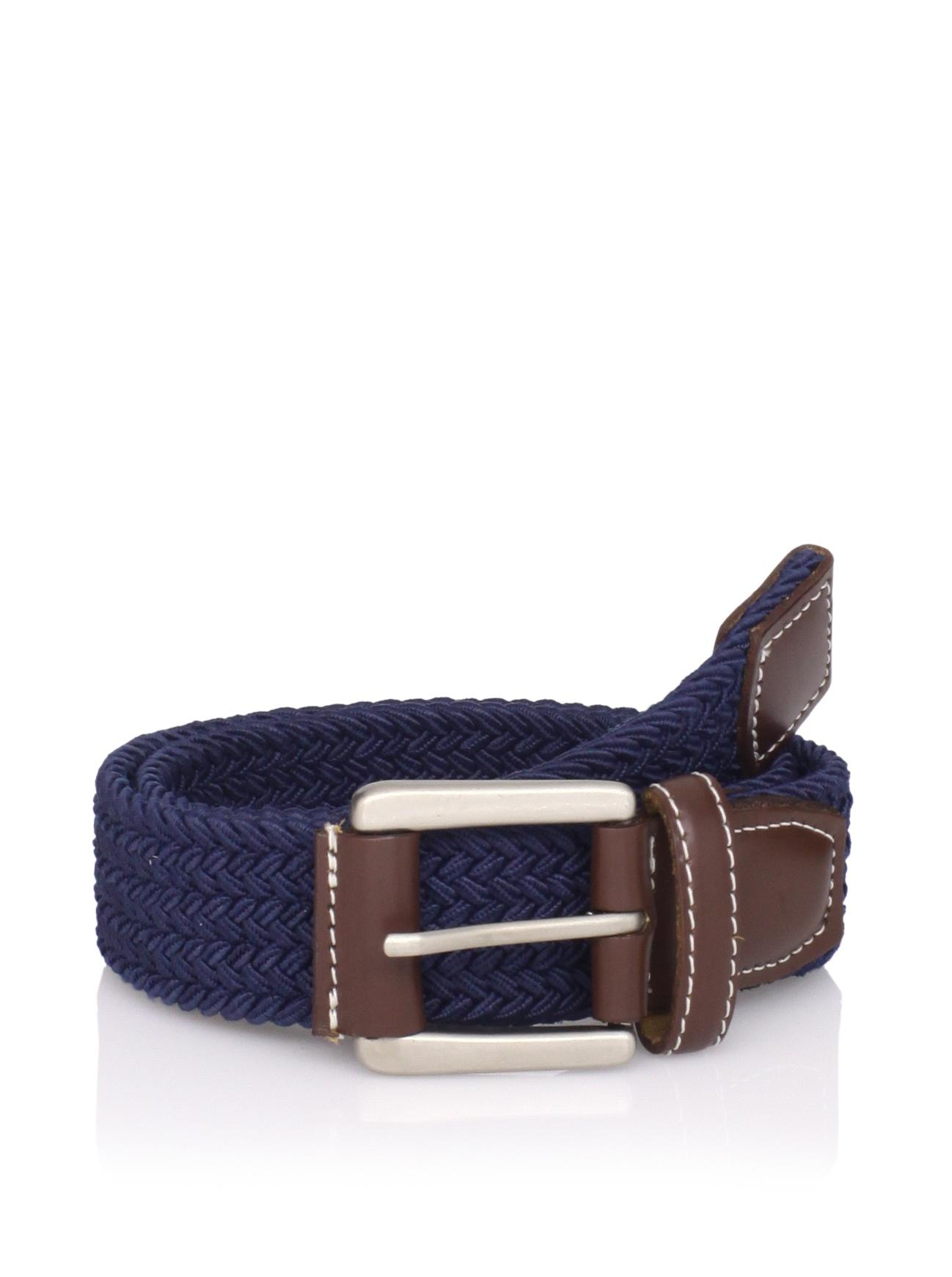 Ike Behar Boy's Casual Woven Belt (Navy)
