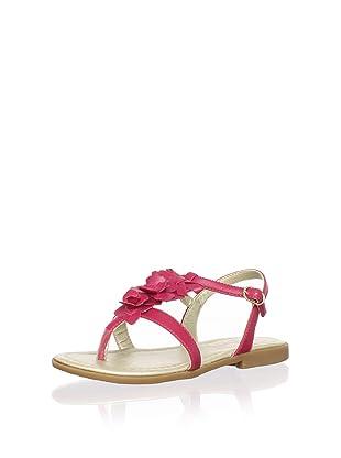 Pampili Kid's Embellished T-Strap Sandal (Cranberry)