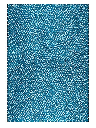 Dreamweavers Fleece Angel Hair Rug (White/Teal)