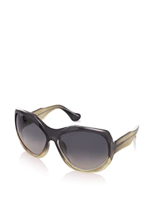 MARNI Women's MA101S Sunglasses, Shaded Grey/Yellow