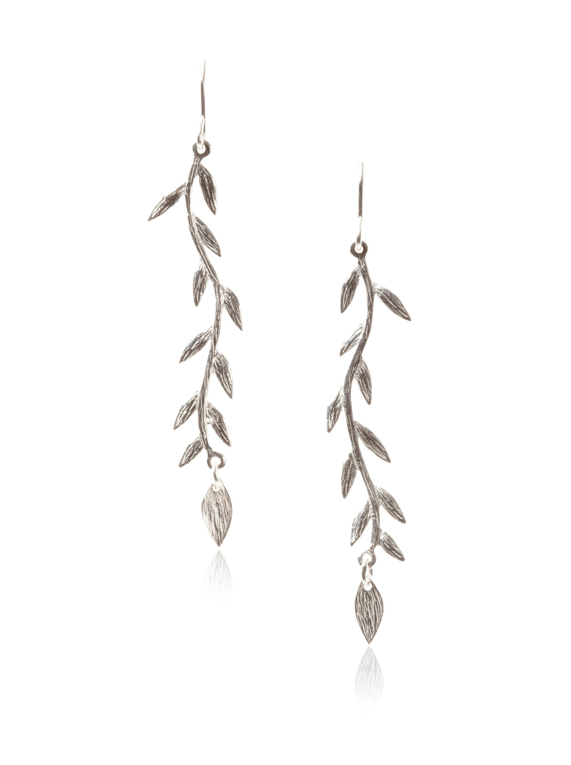 gorjana Vine Drop Earrings , Silver