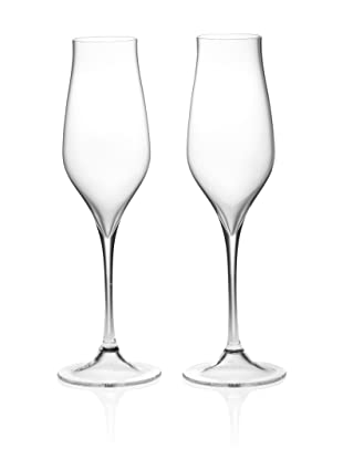 Stölzle Set of 2 Fire Champagne Flutes, 8.5-Ounce