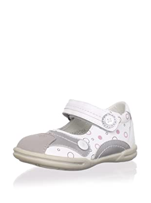 Billowy Kid's Mary-Jane Sneaker (White/Grey)