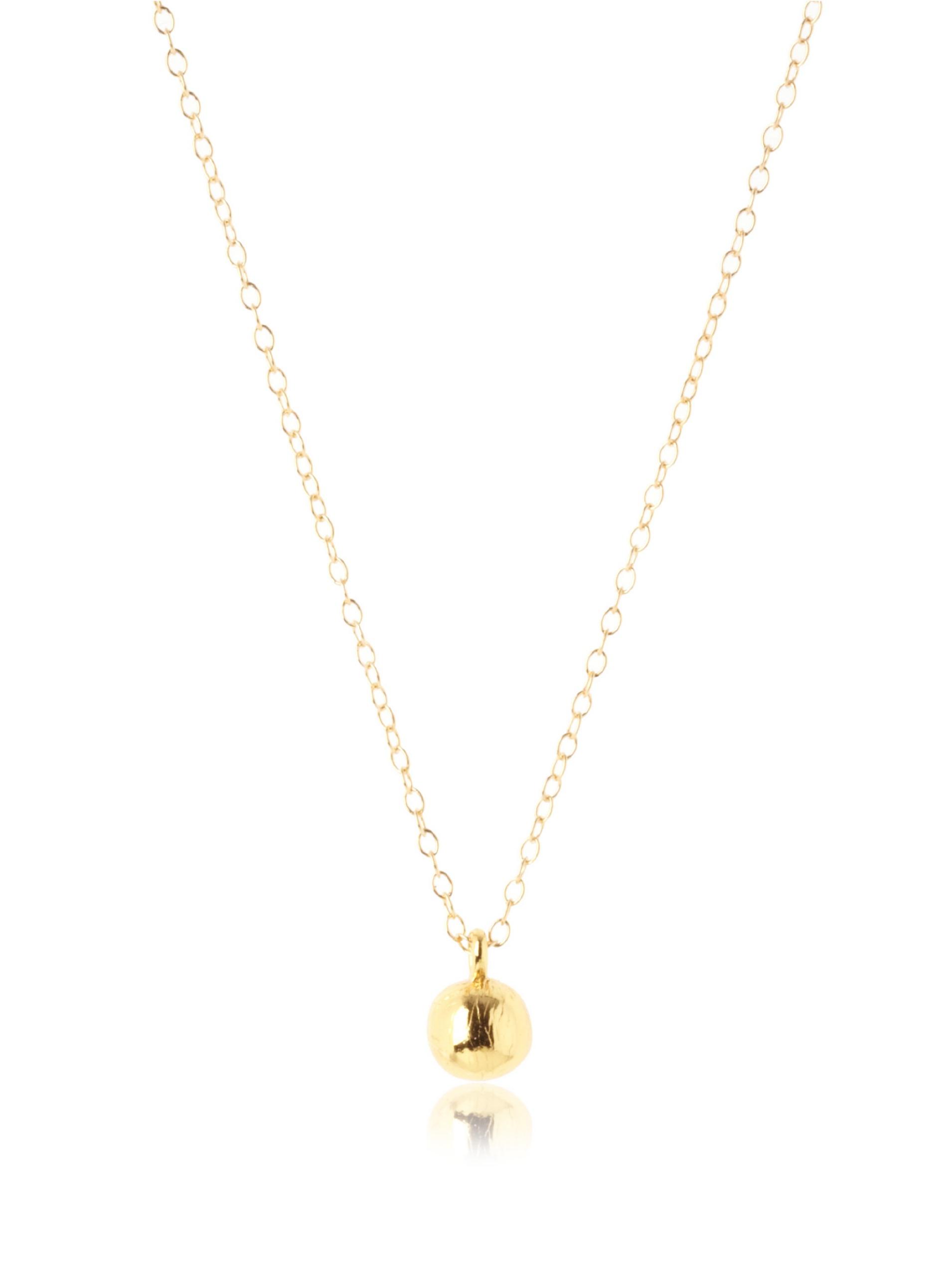 gorjana Carmel Single Drop Necklace, Gold