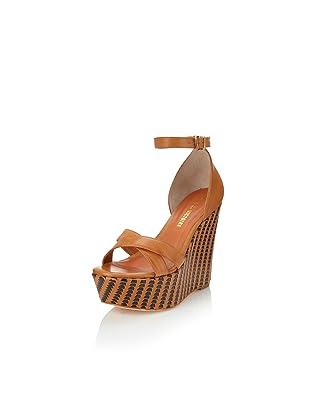 Pour La Victoire Women's Bonita Wedge Sandal (Saddle Brown)
