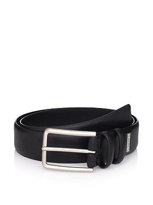 Calvin Klein Men's Double Loop Strap Belt (Black)