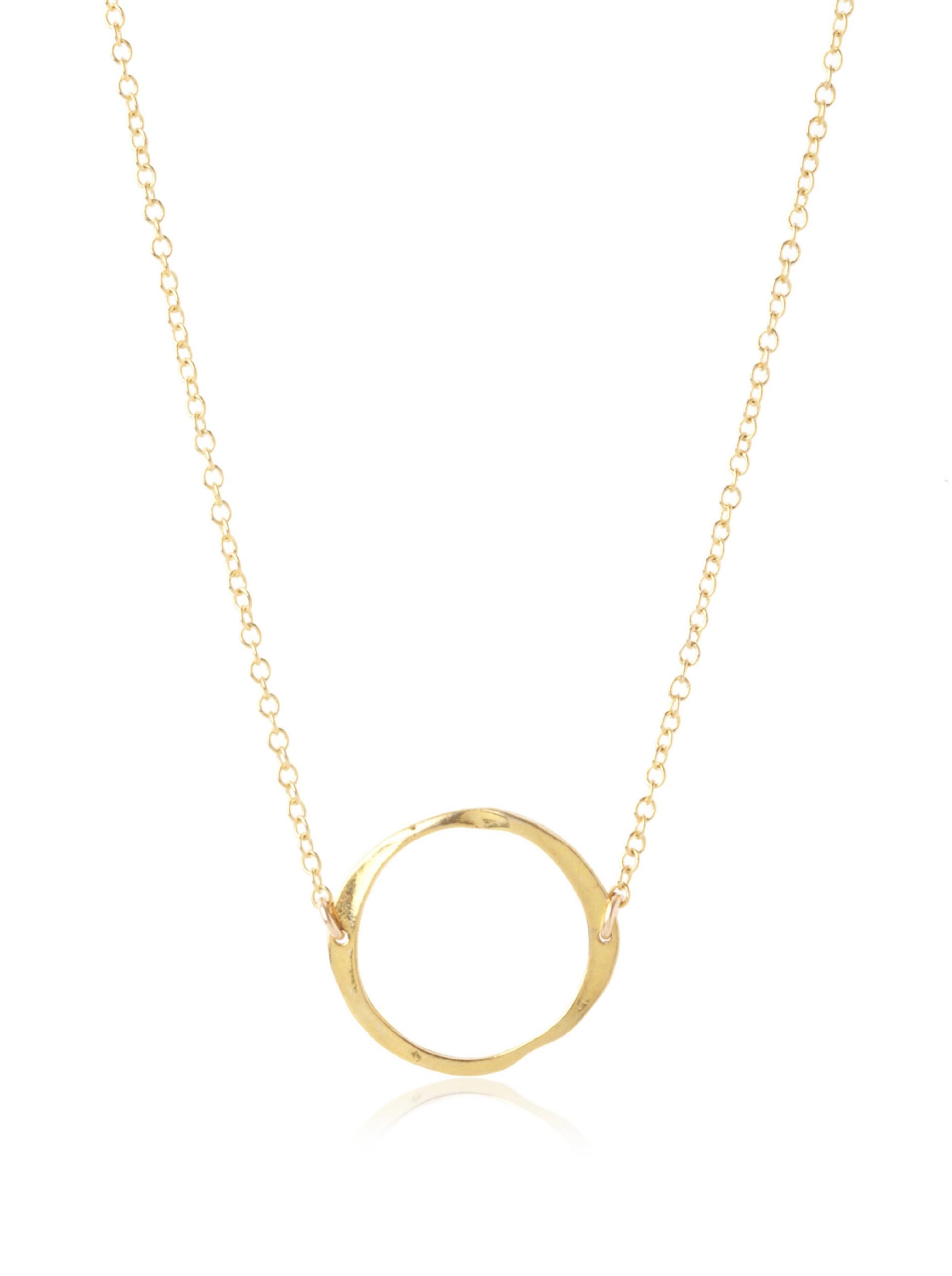 gorjana Circle Necklace, Gold