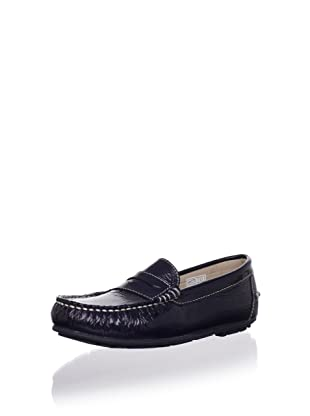 W.A.G. Kid's Traditional Moc Loafer (Patent Navy)