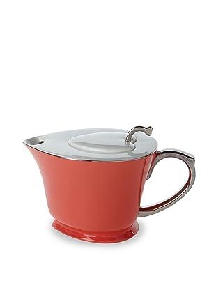 Classic Coffee & Tea Inside Out Heart Teapot (Java Orange/Platinum)