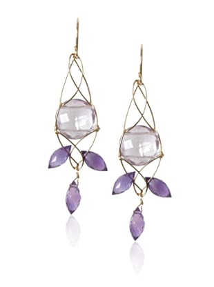 Misha Amethyst Trapeze Earrings