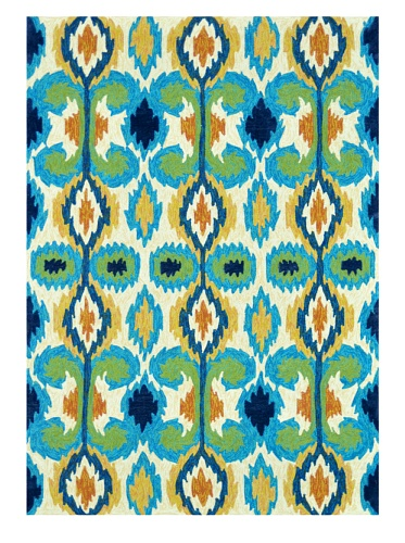 Loloi Rugs Enzo Collection Indoor/Outdoor Rug (Ivory/Blue)