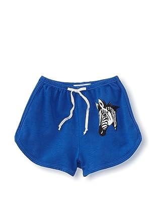 LA Lounge Girl's Zebra Shorts (Blue)