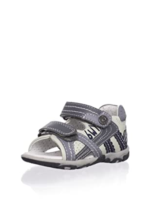 Billowy Kid's Dual Strap Sport Sandal (Silver)