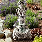 Pure Garden LED Lighted Cherub Fountain with Pump