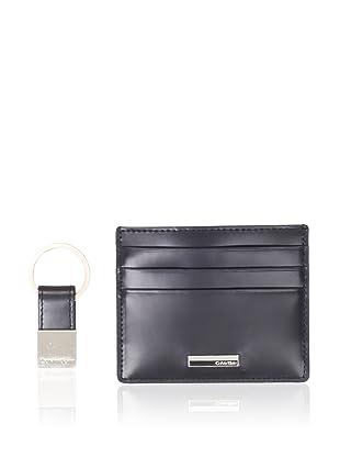 Calvin Klein Men's Card Case/Key Fob Set (Black)