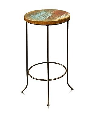 Reclaimed Wood Furniture Bombay Iron Base Barstool