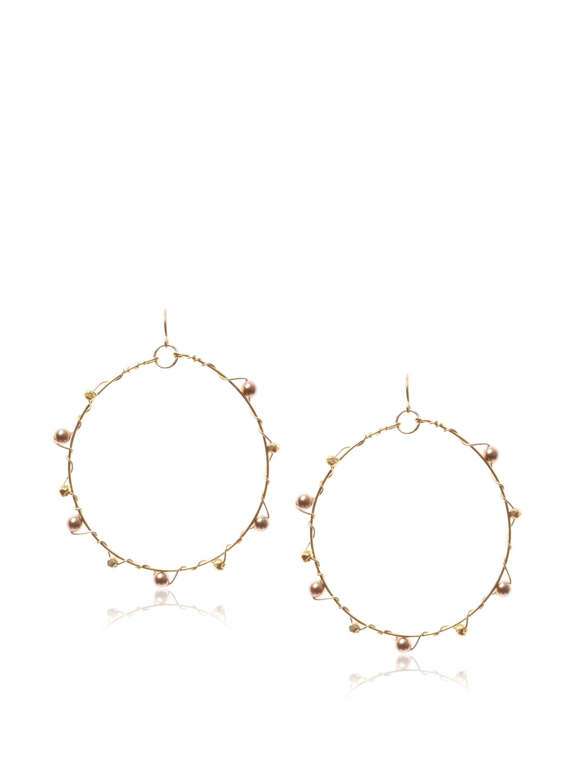 gorjana Bouquet Hoop Earrings , Bronze and Gold