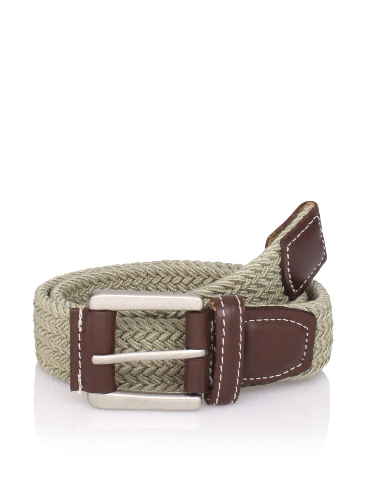 Ike Behar Boy's Casual Woven Belt (Khaki)
