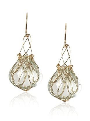 Misha Green Amethyst Small Basket Earrings