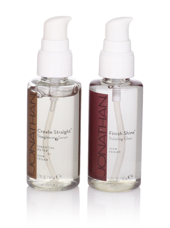 Jonathan Product Create Straight Serum and Finish Shine  Polishing Gloss, 2 Pack