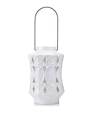 Diamond Reef Hialeah Ceramic Lantern (White)