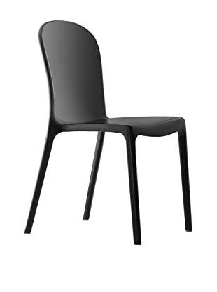 Zuo Set of 4 Gumdrop Stacking Outdoor Dining Chairs (Black)