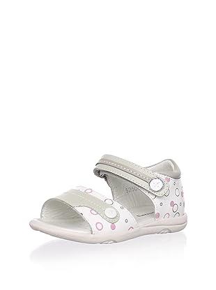 Billowy Kid's Bubble Print Sandal (White/Grey)