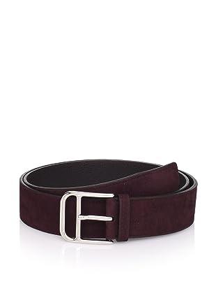 Hermès Men's Suede Belt (Burgundy)