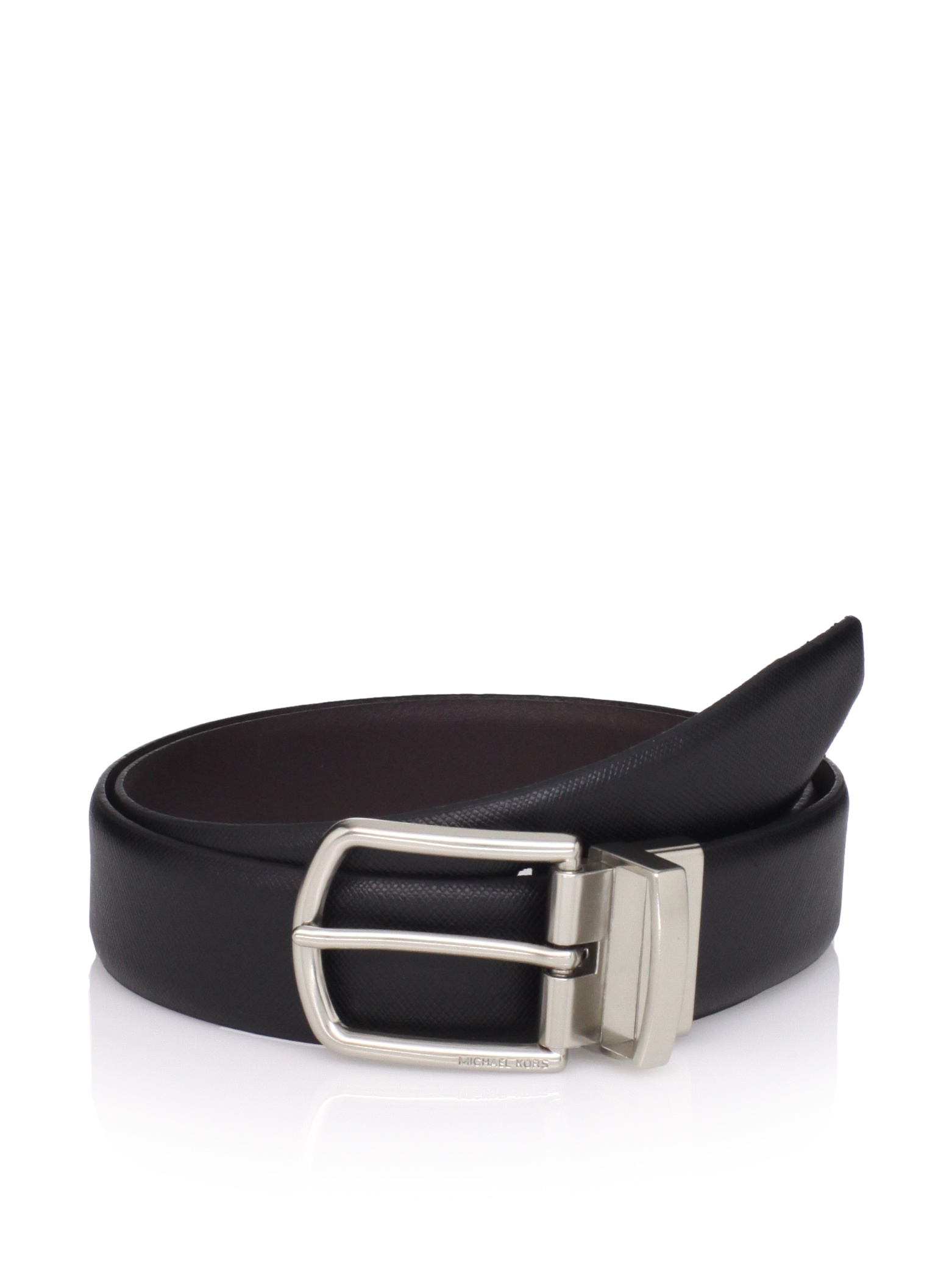 Michael Kors Men's Reversible Belt (Black/brown)