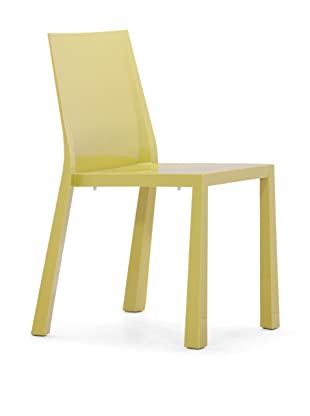 Zuo Set of 4 Popsicle Stacking Outdoor Dining Chairs (Green)
