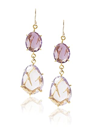 Misha Amethyst Double Drop Earrings