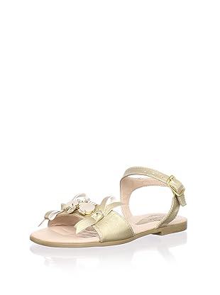 Contramao Kid's Jeweled Sandal (Beige)