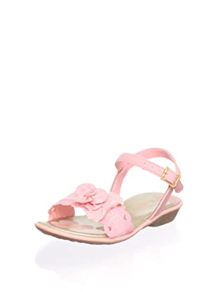Pampili Kid's Ankle-Strap Sandal with Flowers (Pink)