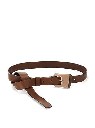 MARNI Women's 2-Tone Buckle Belt (Biscuit)